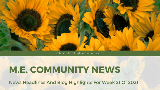 a field of sunflowers, title reads ME Community News
