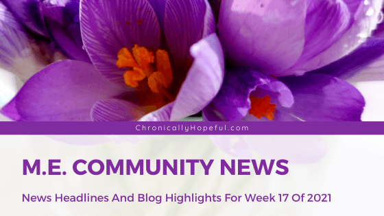 This week's ME News Headlines and Blog Updates from the community